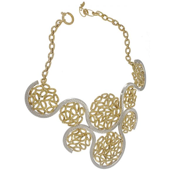 Necklace in yellow and white gold.